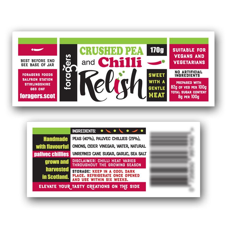 Crushed Pea & Chilli Relish